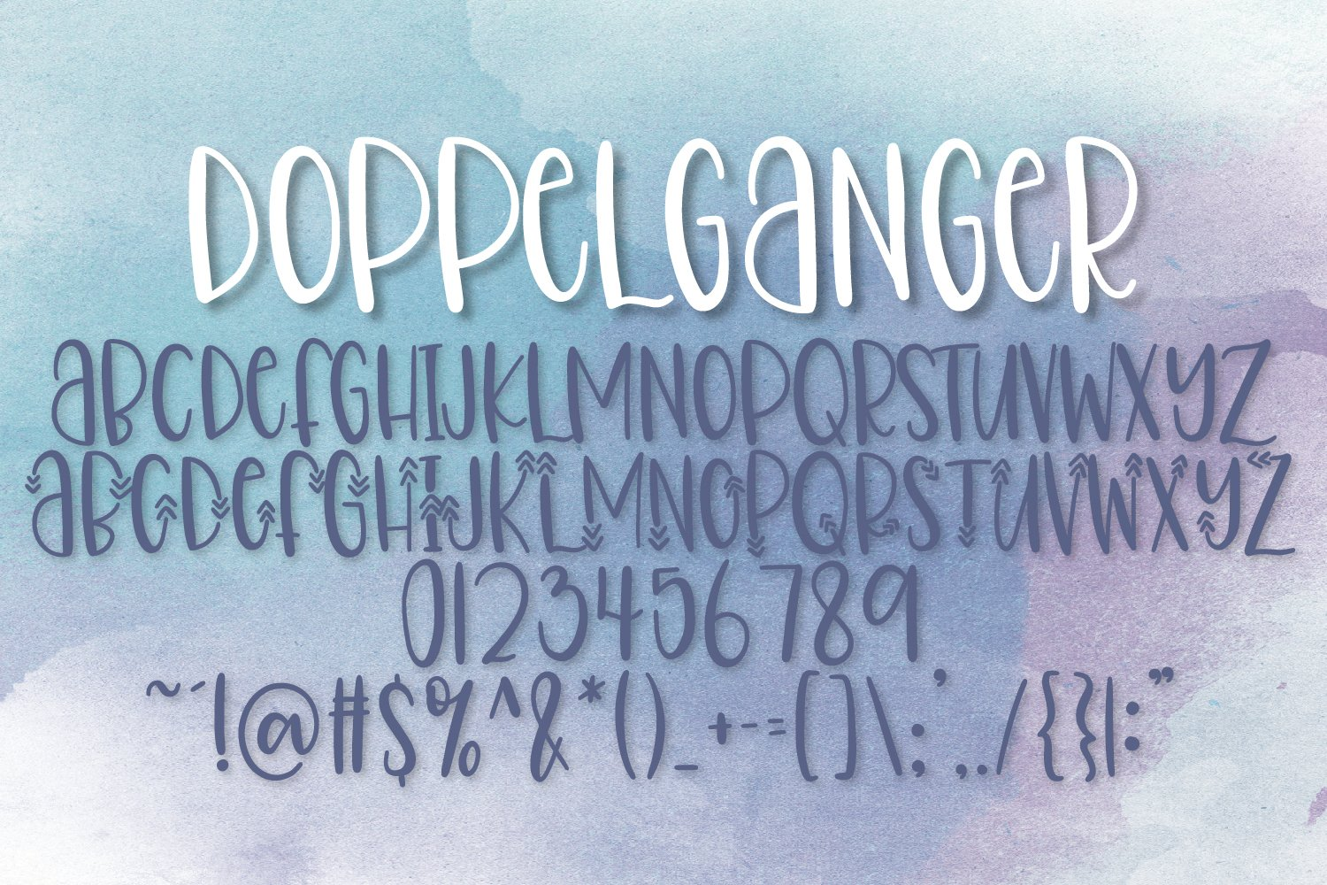 Doppelganger & Dingbat - A Font Duo example image 9