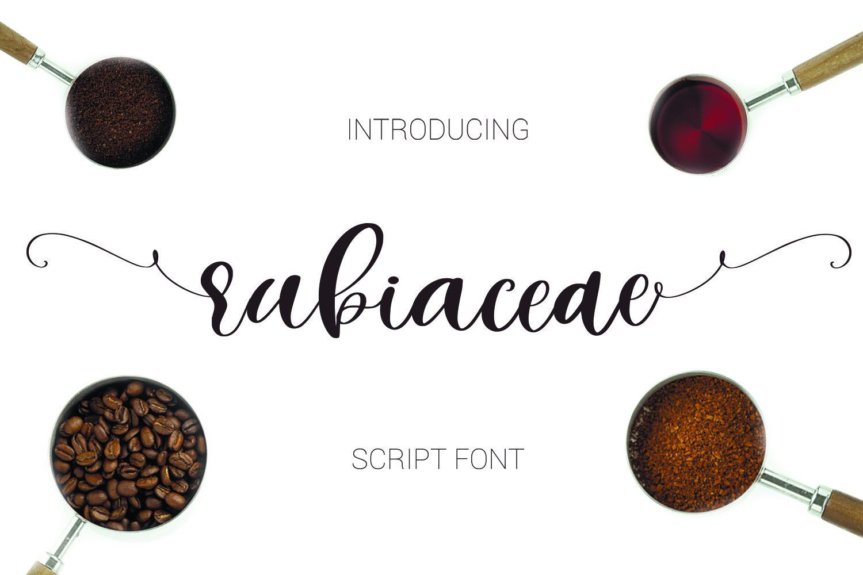 Rubiaceae Script Font example image 1