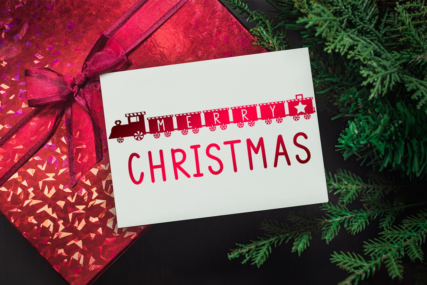 Christmas Train - A Fun Holiday Font example image 2