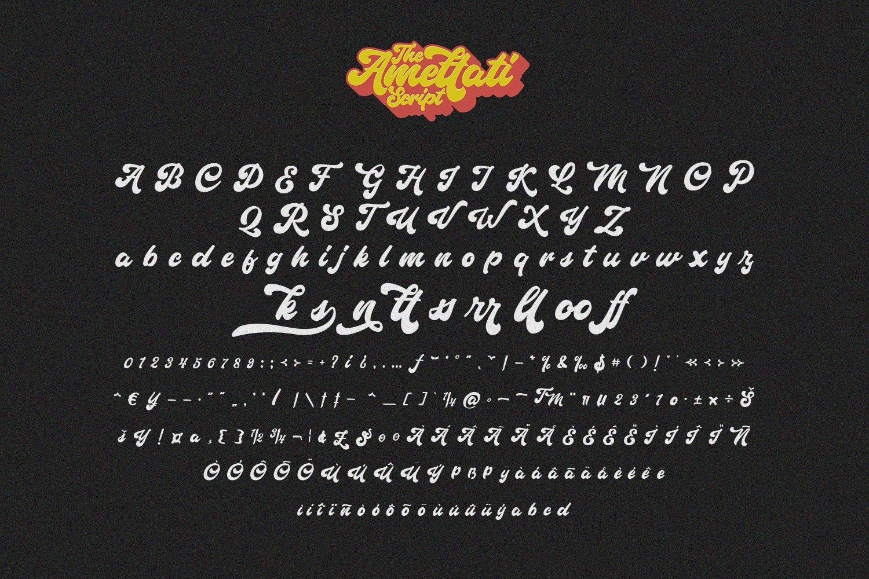 Amettati - Script Retro Font example image 6