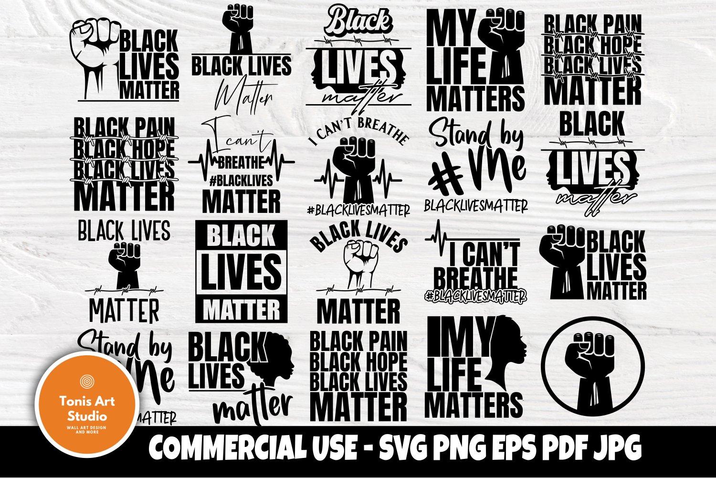 Black Lives Matter Svg Bundle I Cant Breathe Svg Black Svg 664395 Cut Files Design Bundles