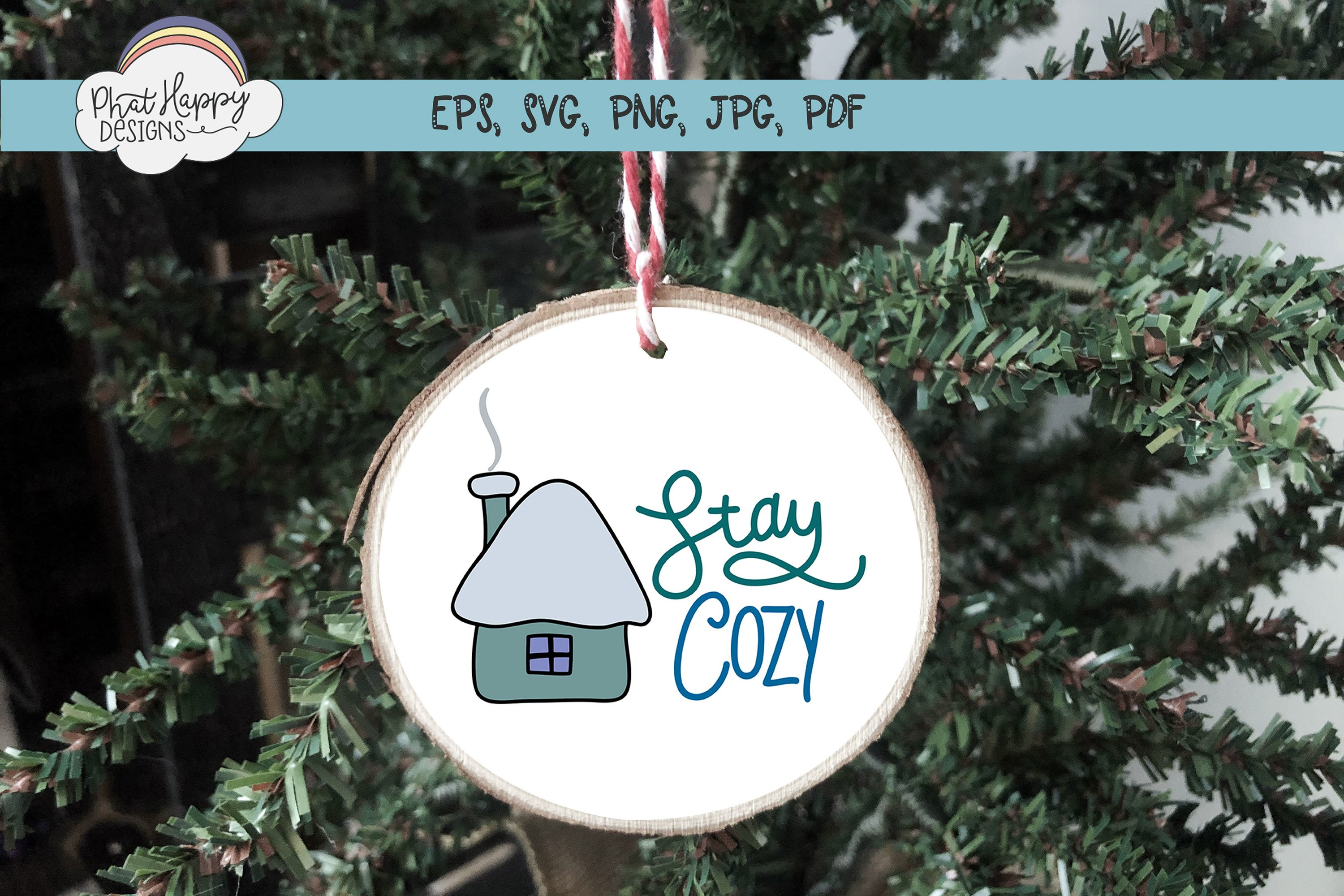 Stay Cozy- Hand Lettered Christmas SVG example image 2