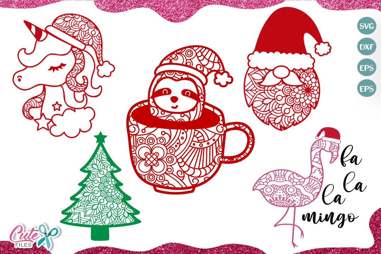 Christmas Mandala mini bundle SVG for crafters example image 1