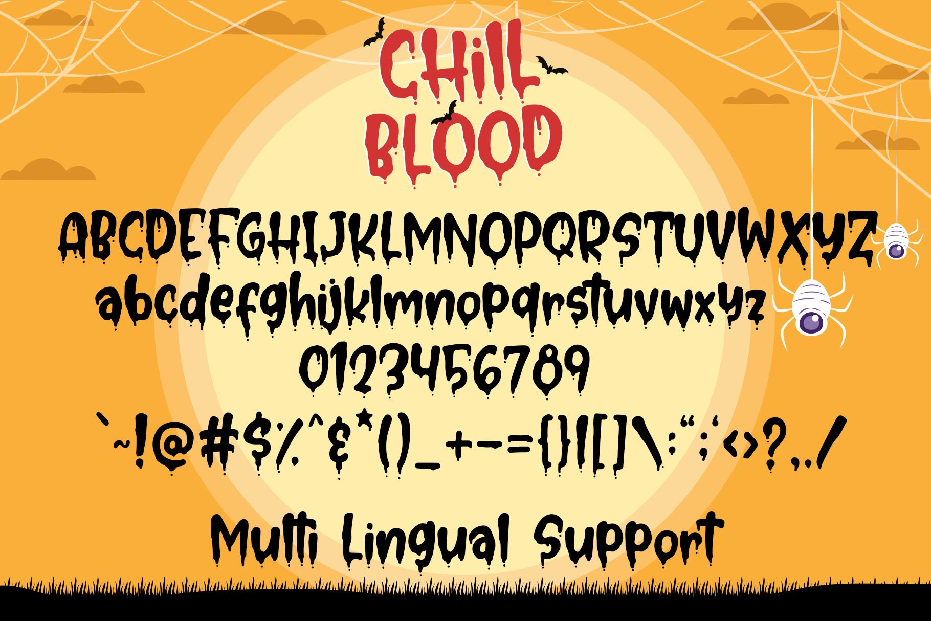 Chill Blood - Bloody Typeface example image 6