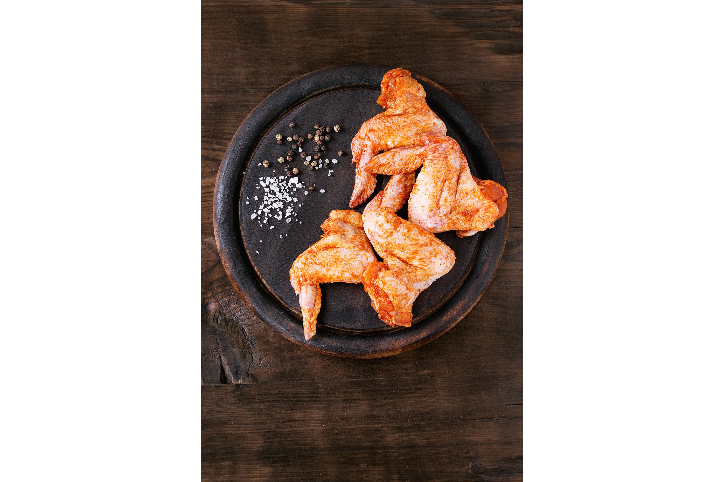 Raw Marinated chicken for BBQ example image 1