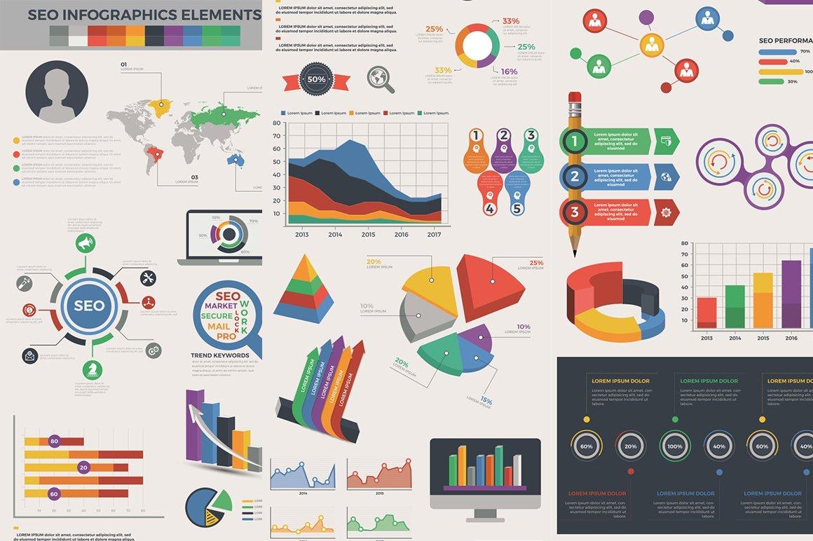 1000 Ultra Big Bundle Infographics Elements example image 12