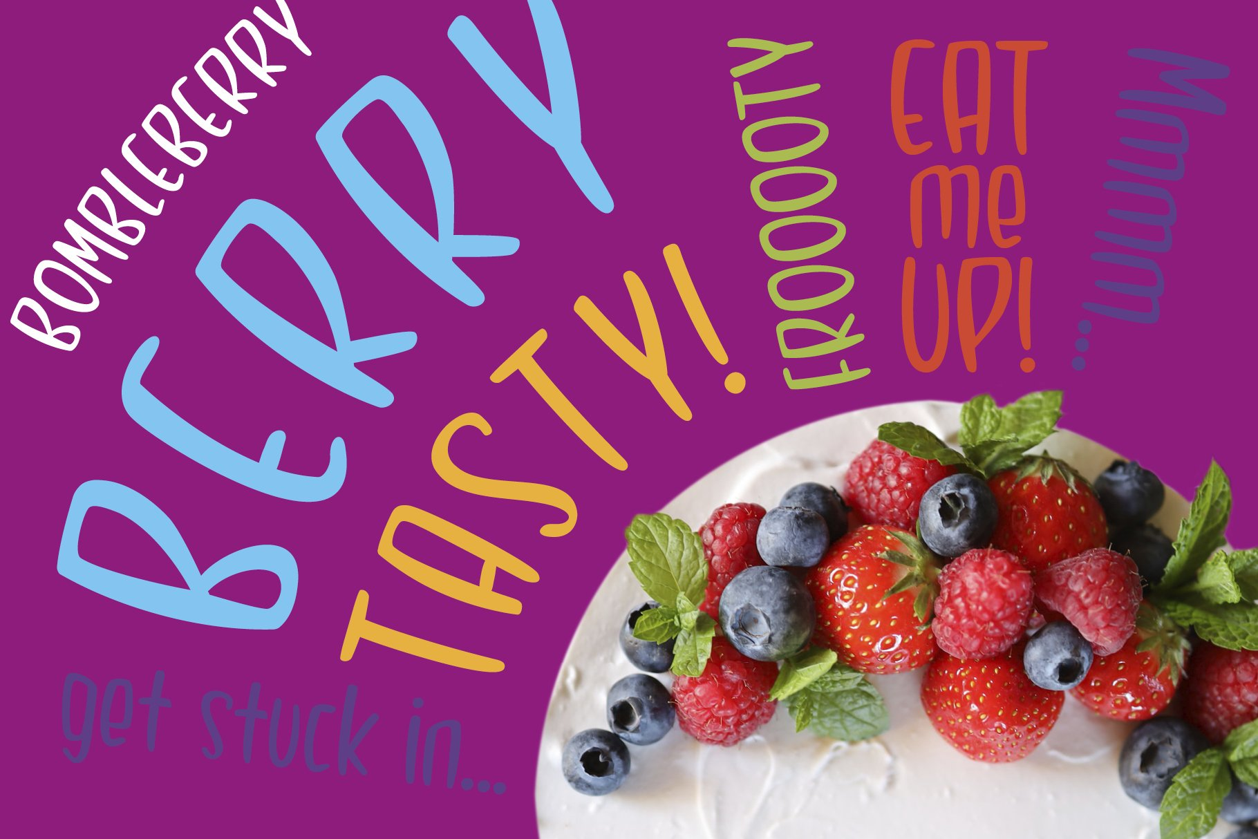 Bombleberry - a playful & tasty font example image 4