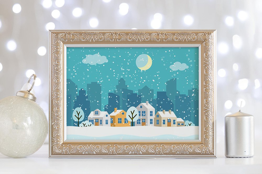 Winter Christmas landscapes example image 3