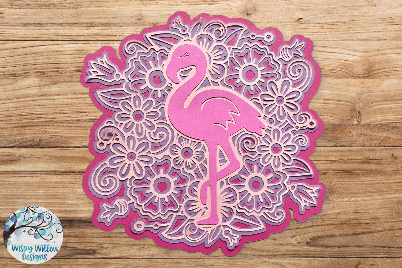 Download 3D Layered Design | Flamingo Mandala SVG (542039) | Cut ...