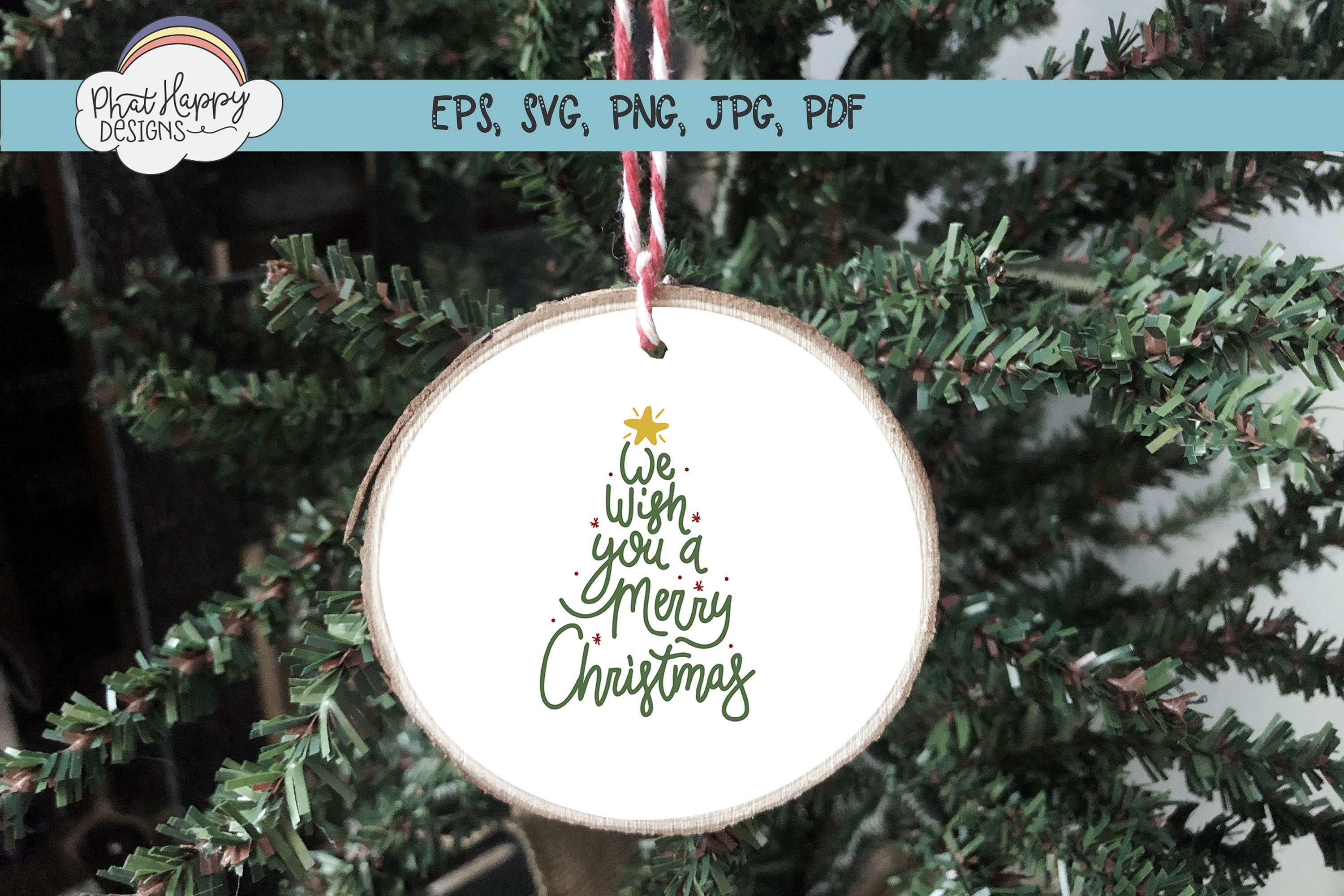 We Wish- Hand Lettered Christmas SVG example image 4