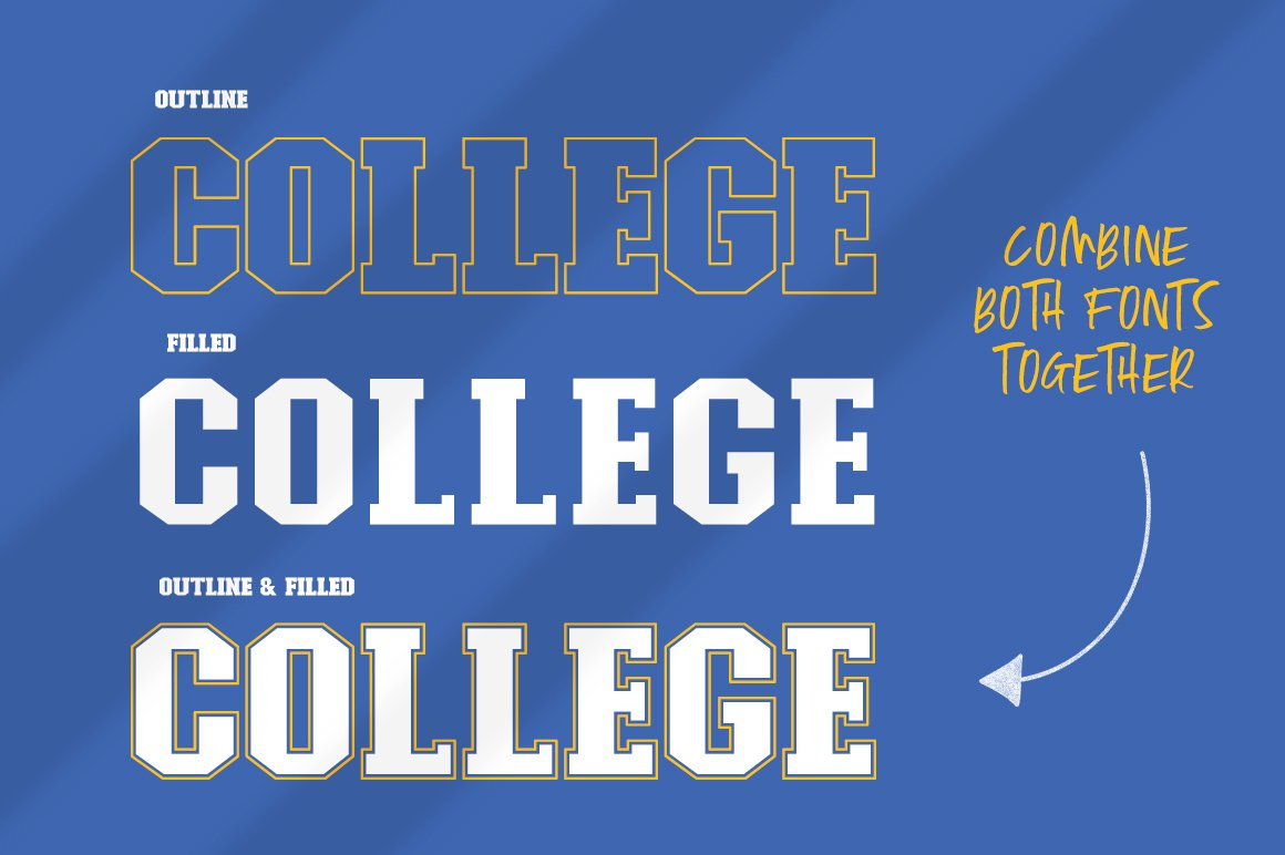 College Font Family example image 3