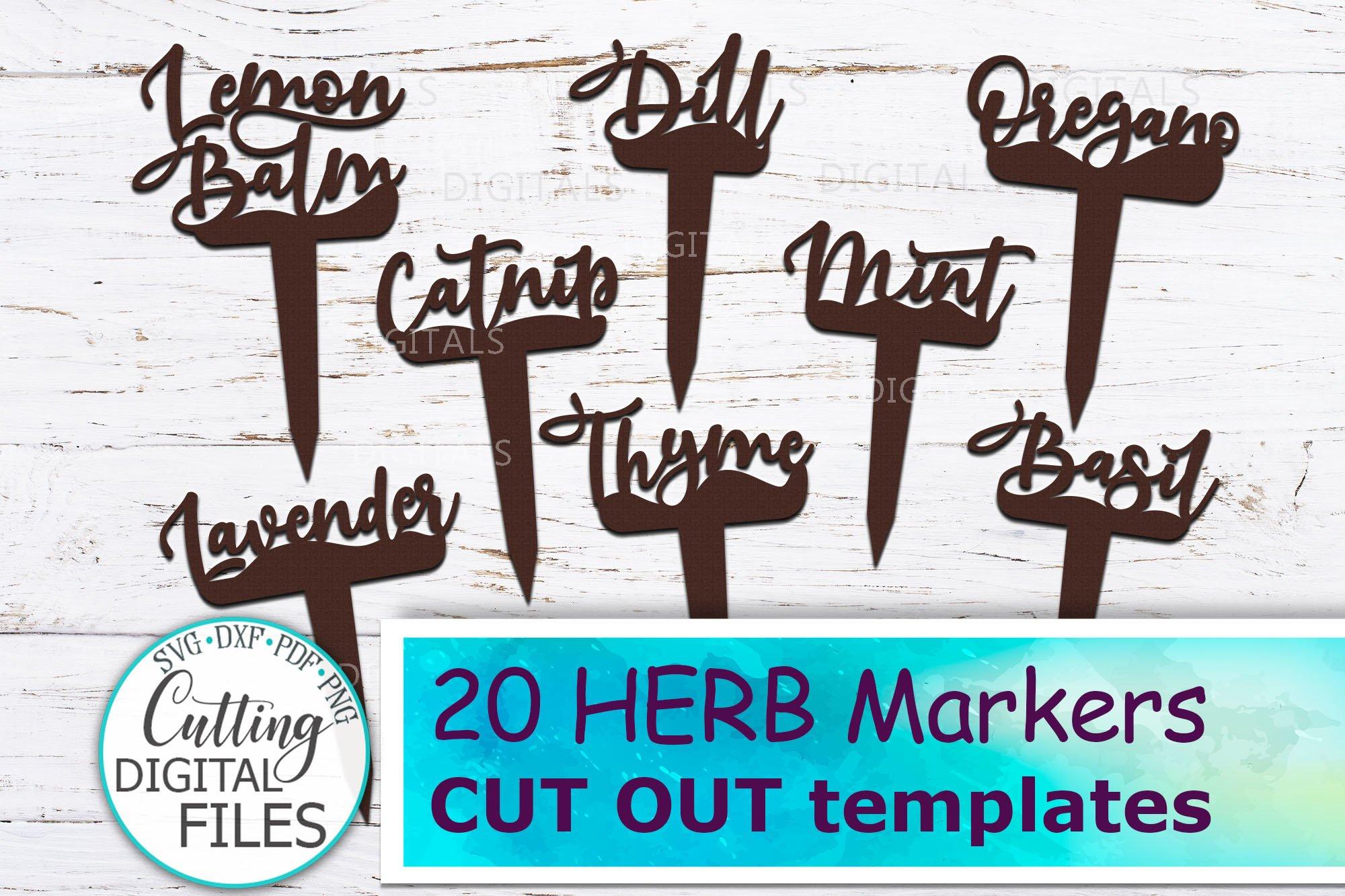 Plant Herb Markers Herb Signs Garden Decor Wooden Laser Svg 779876 Cut Files Design Bundles