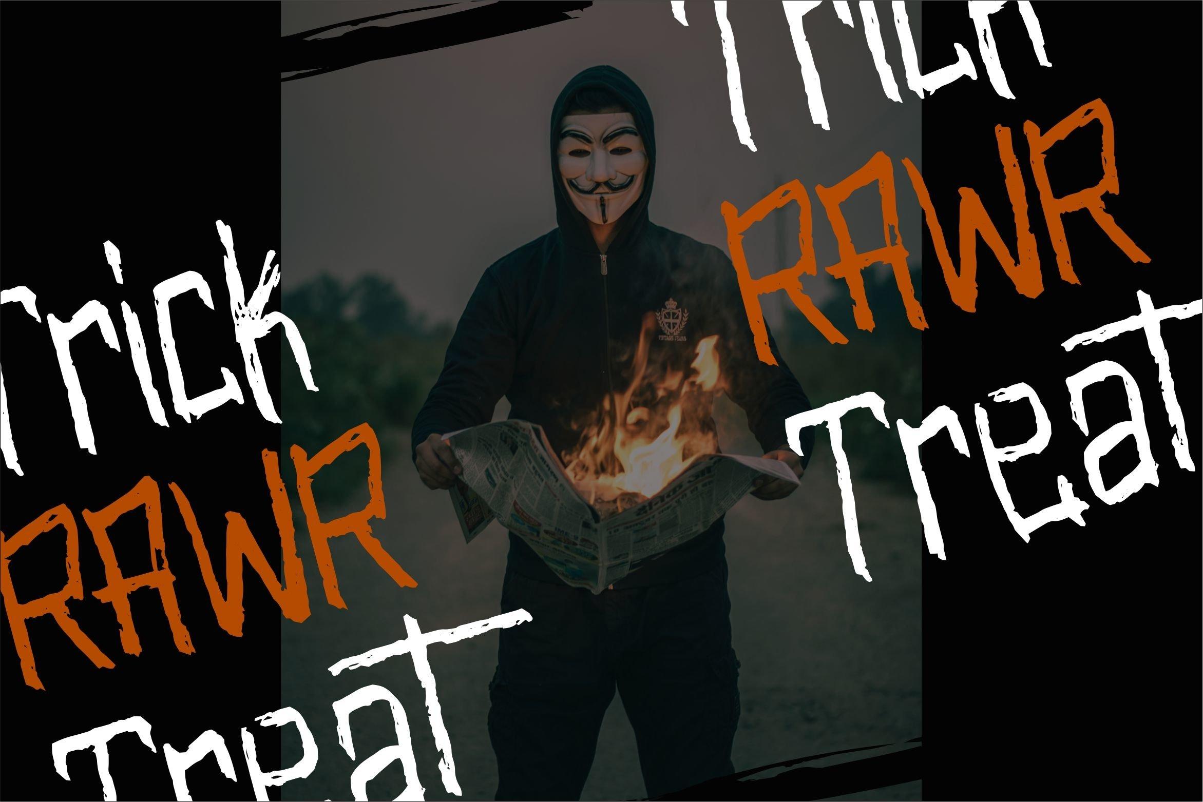 Olympia - Scary Brush Font example image 5