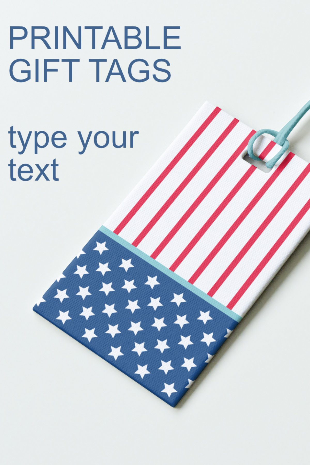 Patriotic Tags with Star Printable Editable PDF Tag Template example image 11