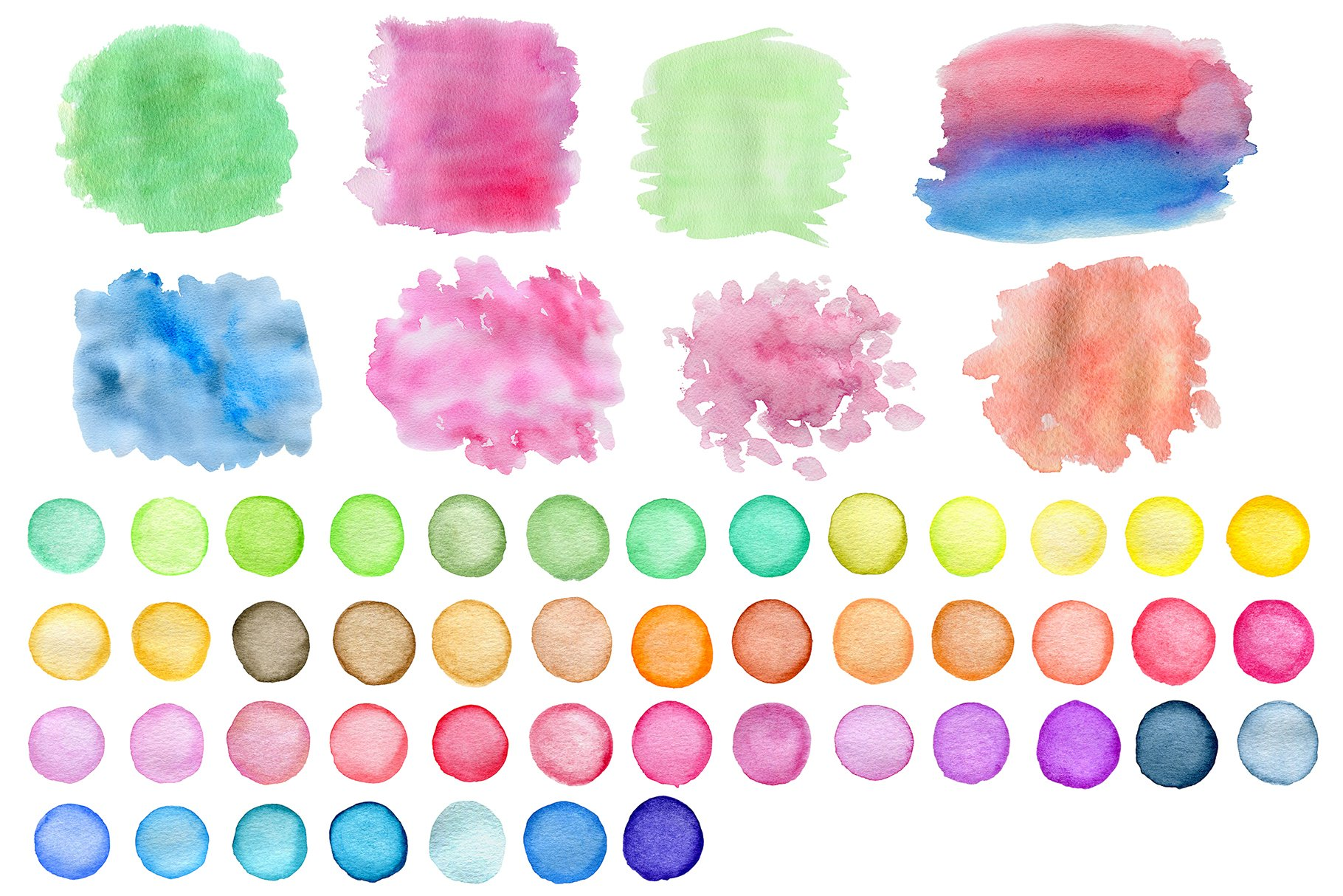 Watercolor Blots and Patterns example image 3