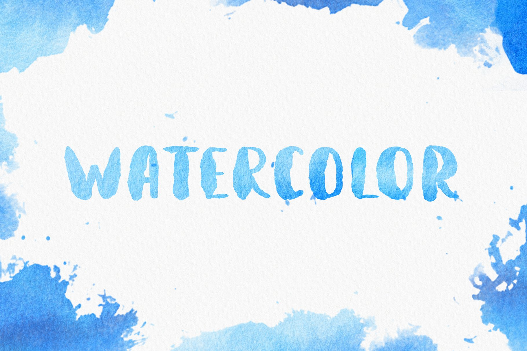 Aquatype. Display Watercolor font. example image 6