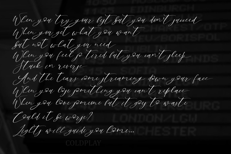 Sky Opera. A Handwritten Script Font example image 8
