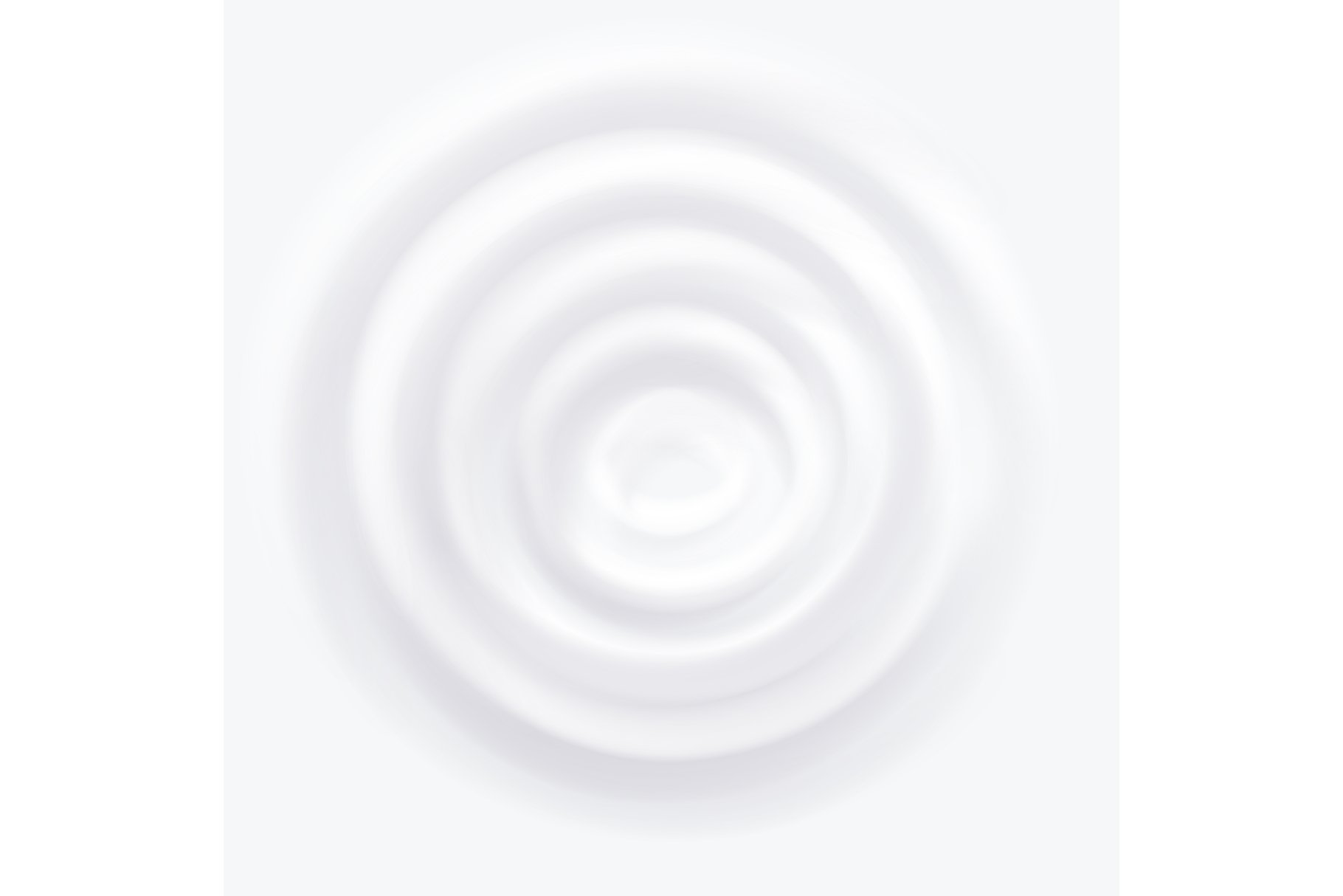 Milk Splash Vector. Cream Clean Circle Waves. Falling Drop. example image 1