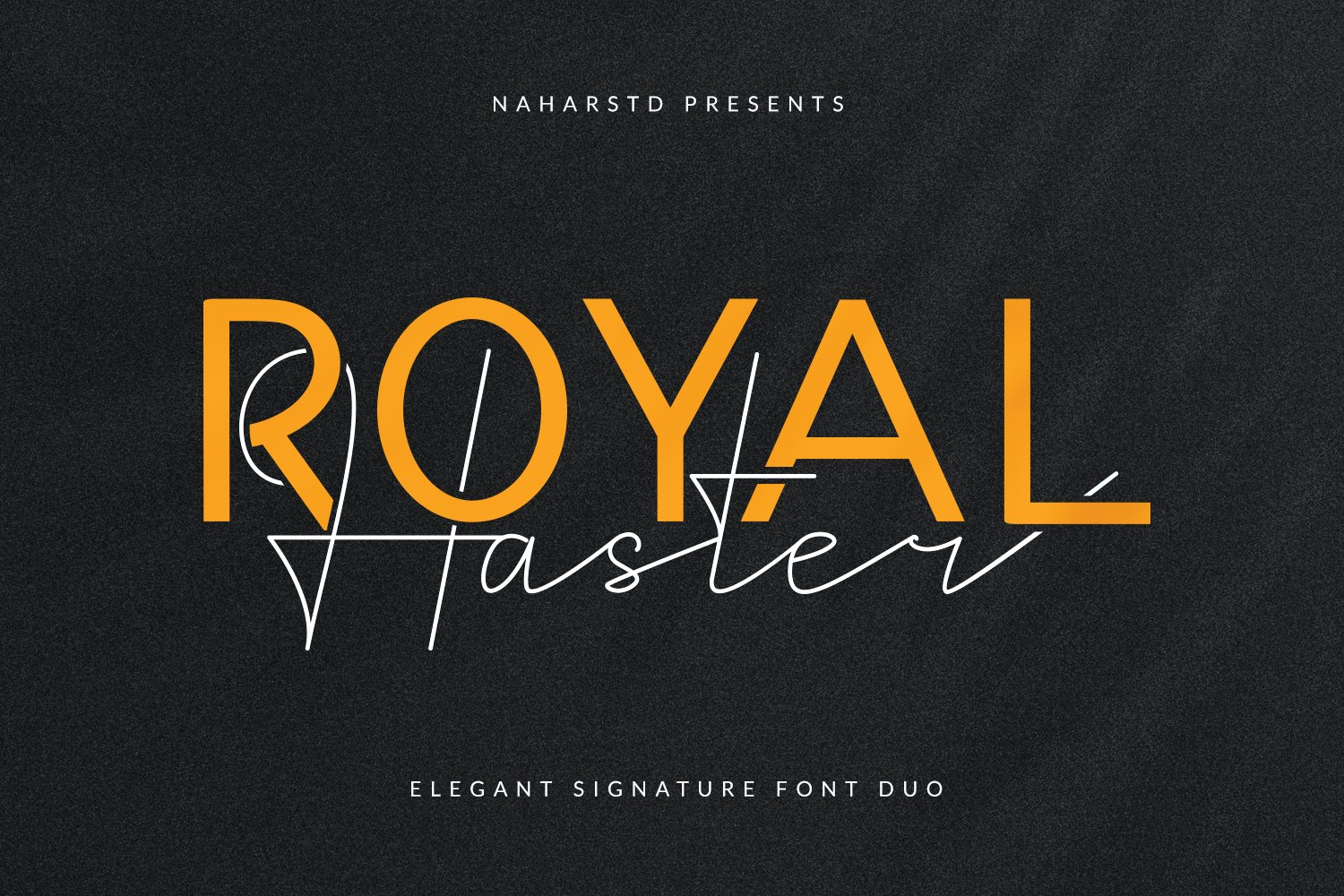 Royal Haster | Elegant Signature Font Duo example image 1
