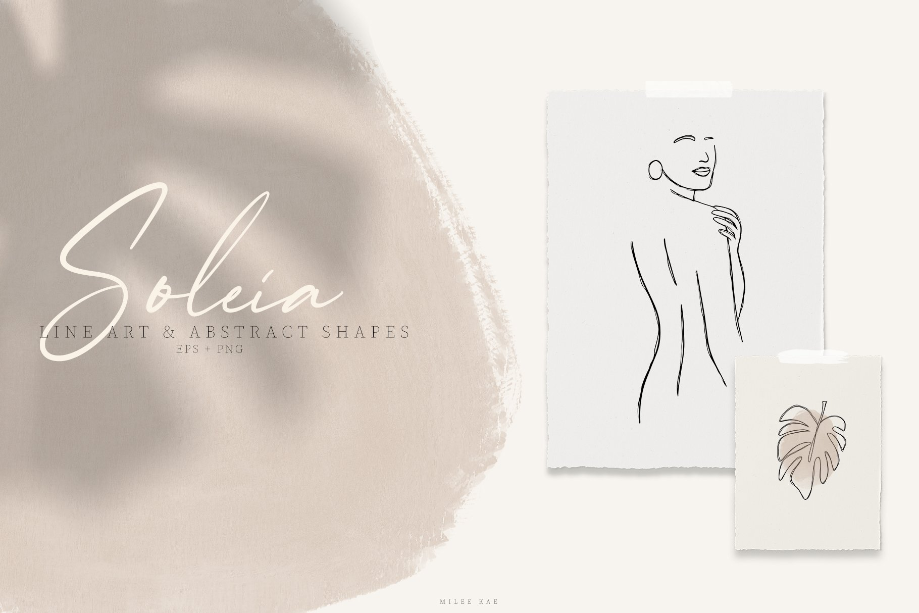 Soleia Line Art & Abstract Shapes example image 1