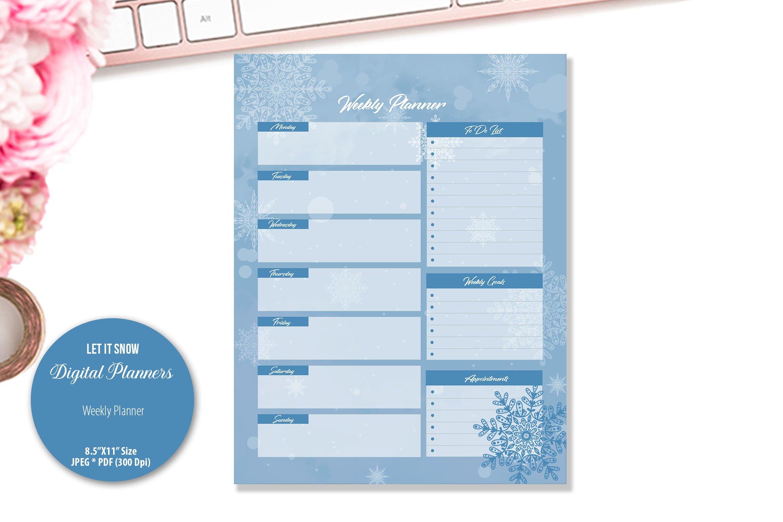 Let It Snow Digital Planner example image 3