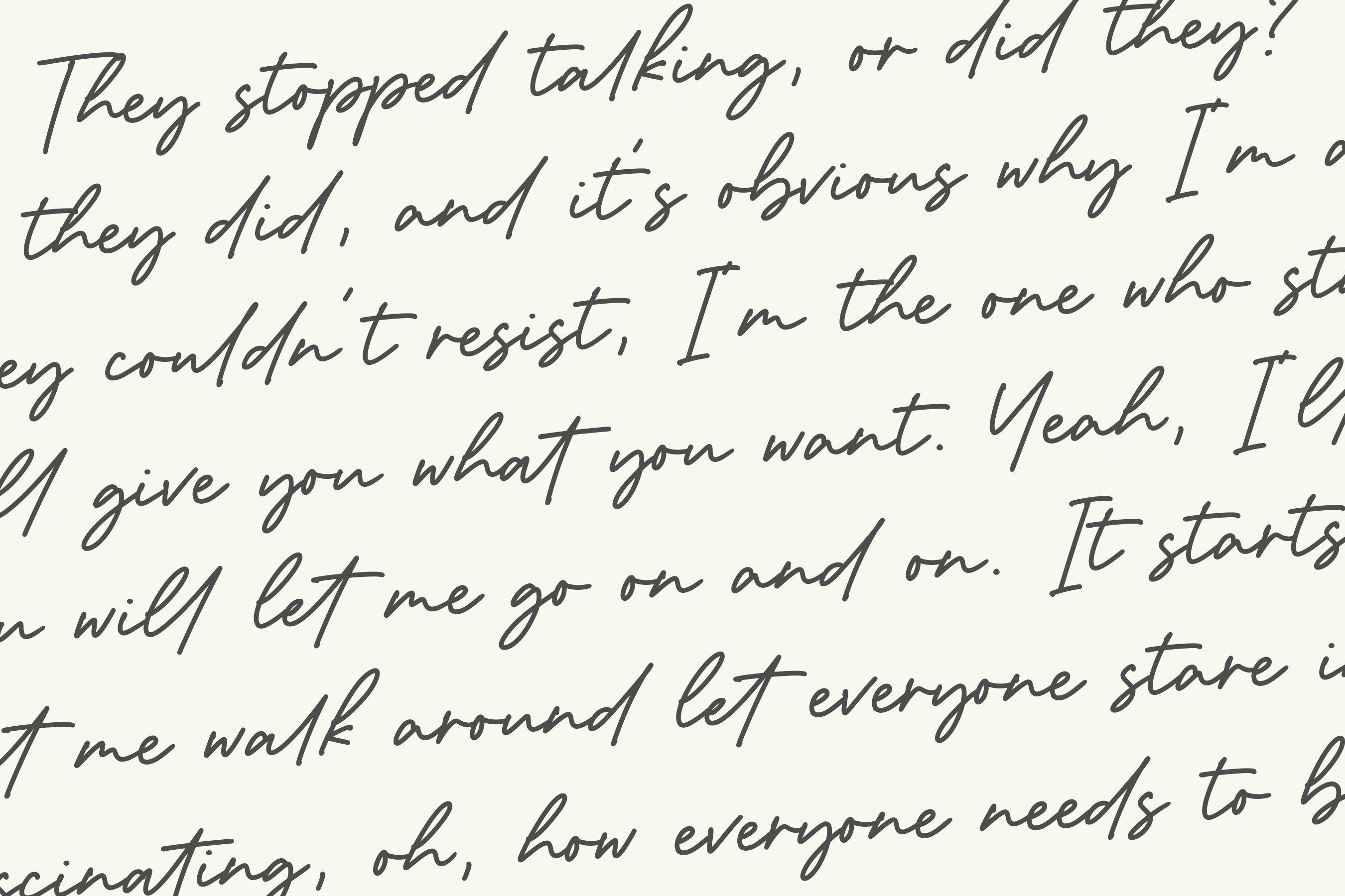 Dementor Monoline Handwritten Font example image 6