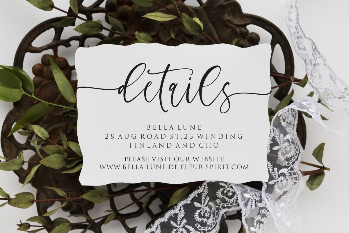 Charming - chic modern script font example image 5