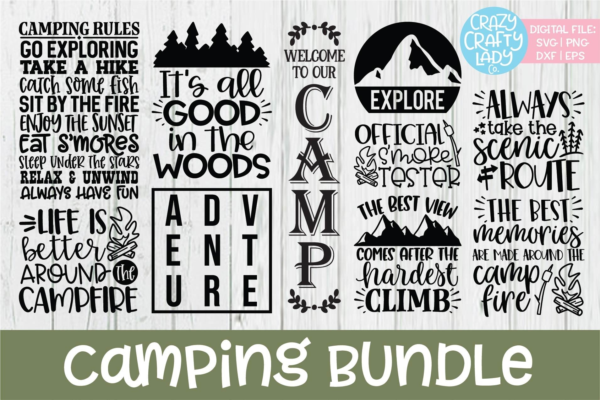Download Camping Svg Bundle – Svg Dxf Eps Png Image