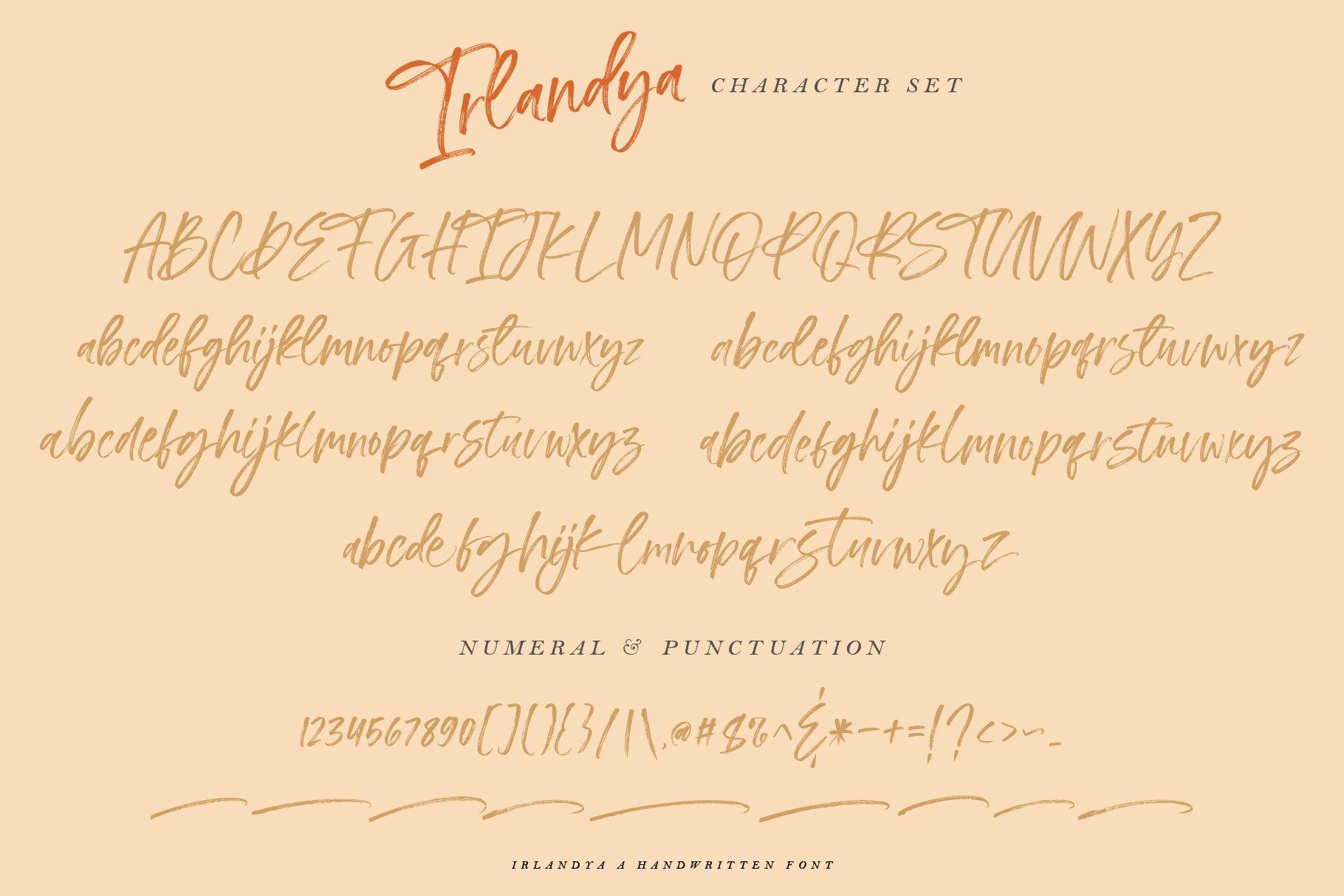 Irlandya - Handwritten font example image 14