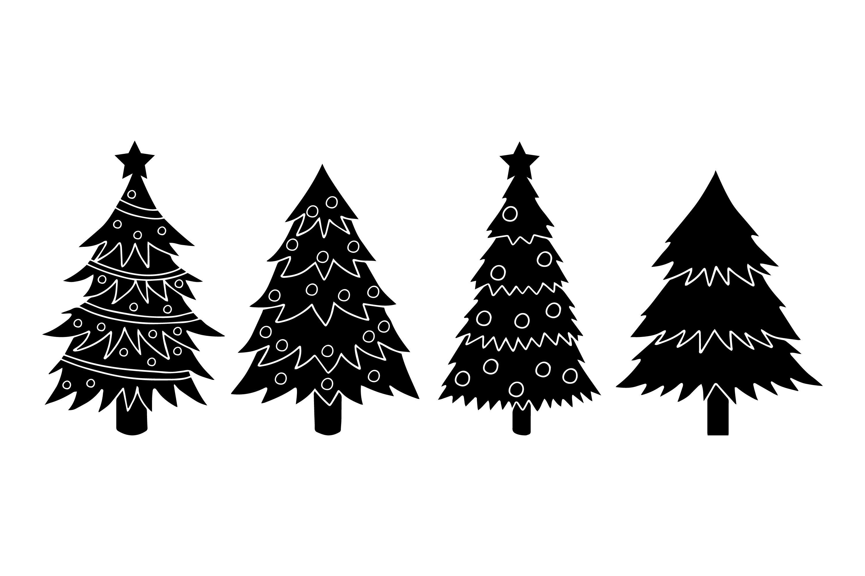 Christmas Tree Silhouettes example image 1