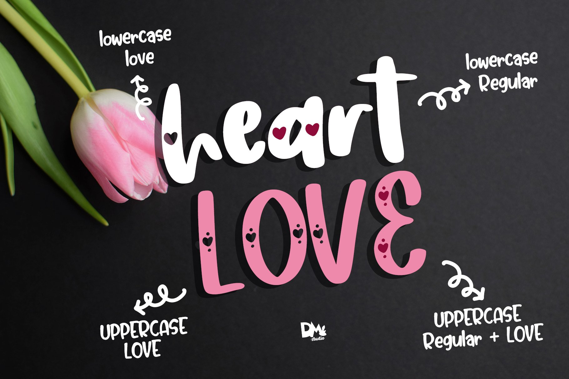 Heart Love - Crafty Lovely Font Duo example image 6