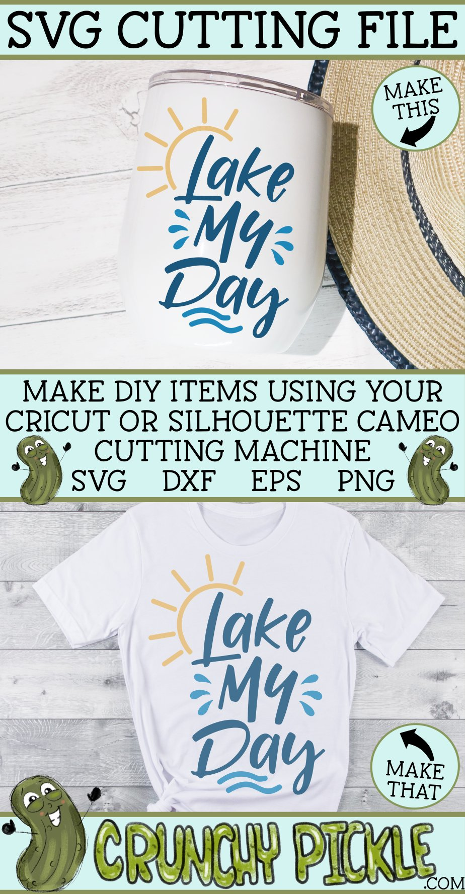 Lake My Day SVG Cut File example image 4