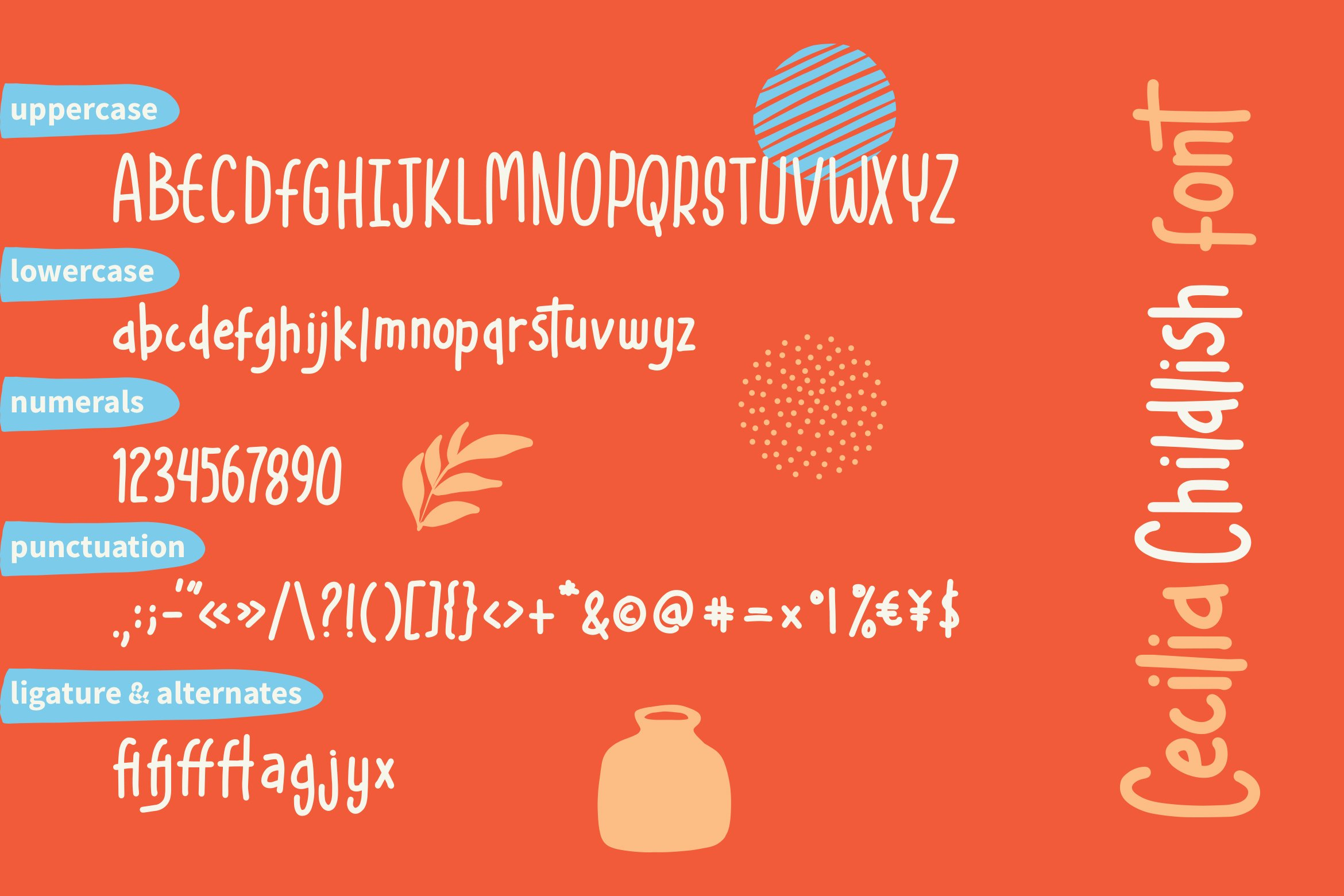 Cecilia - Childlish Fonts example image 5