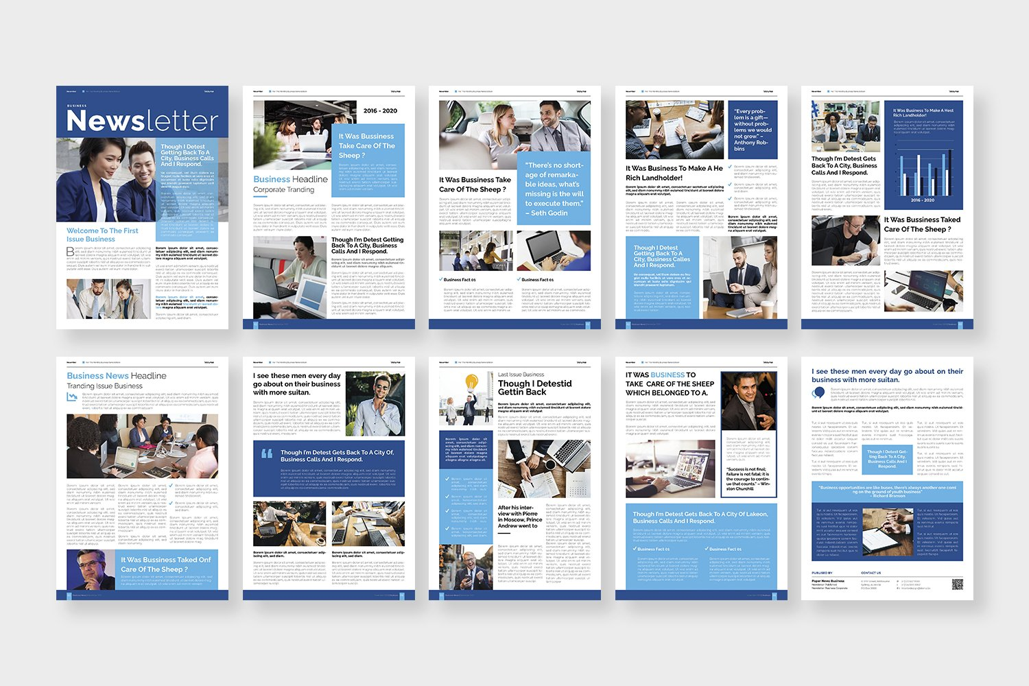 Corporate Issue Newsletter Template example image 3