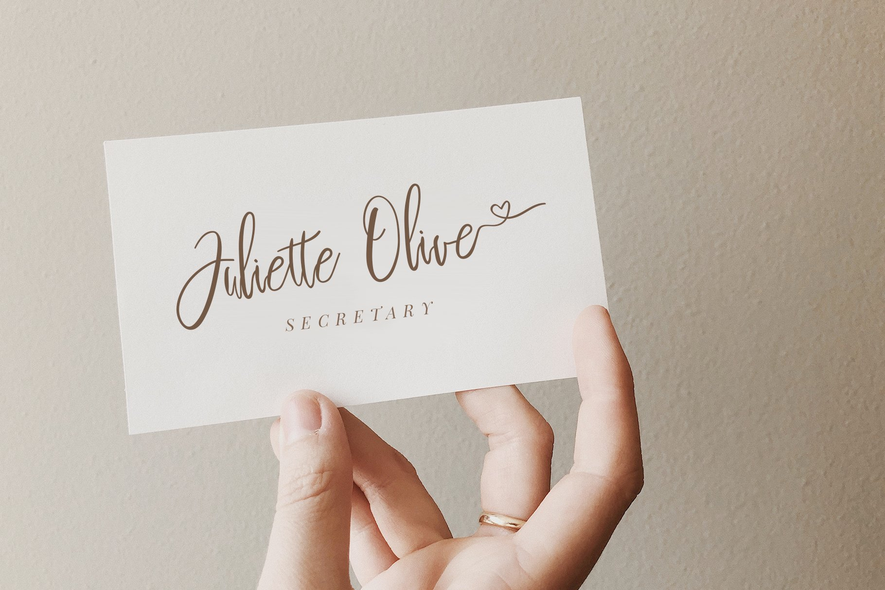 Sweetheart Lovely Calligraphy Font example image 11