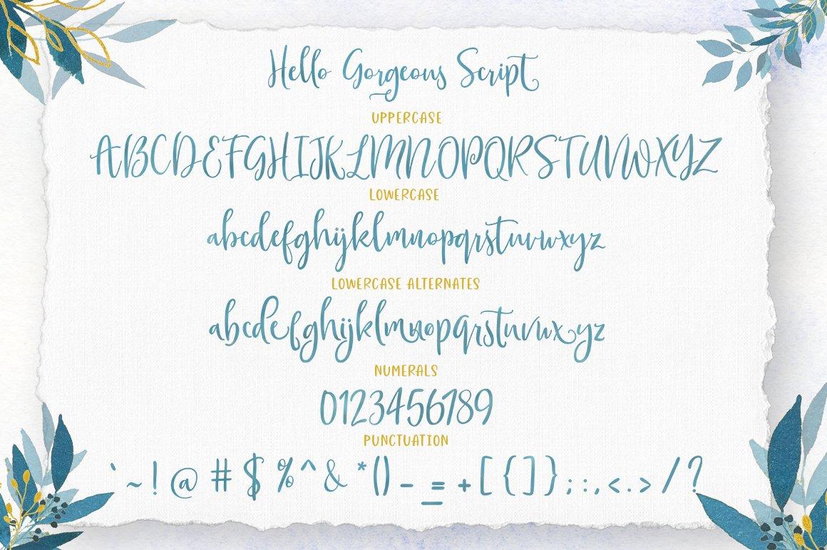 Gorgeous Script Font Trio example image 8