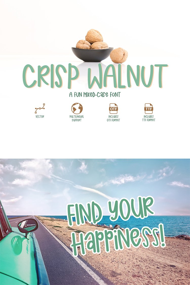 Crisp Walnut - a quirky mixed-case font example image 6