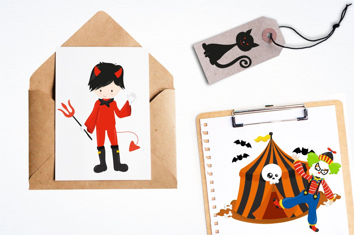 Halloween Circus Graphics and illustrations, vector example image 5