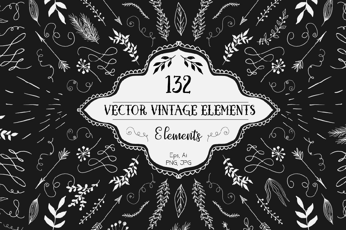 Vector Vintage Elements example image 1