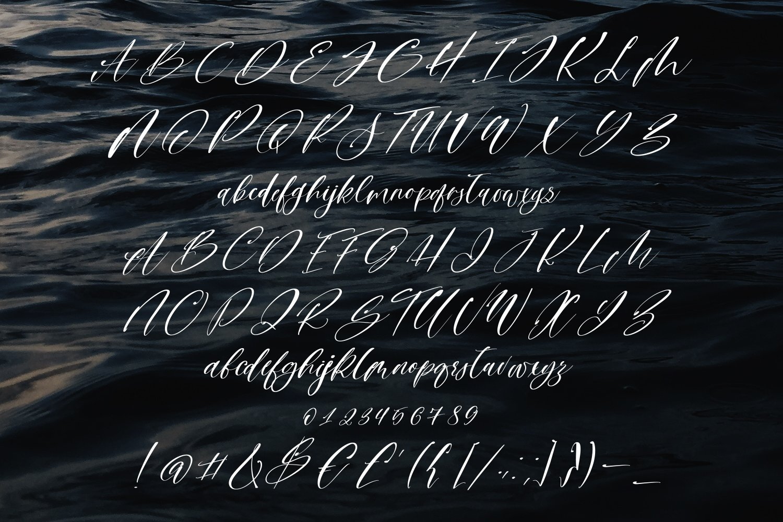 Sailor B Script font example image 6
