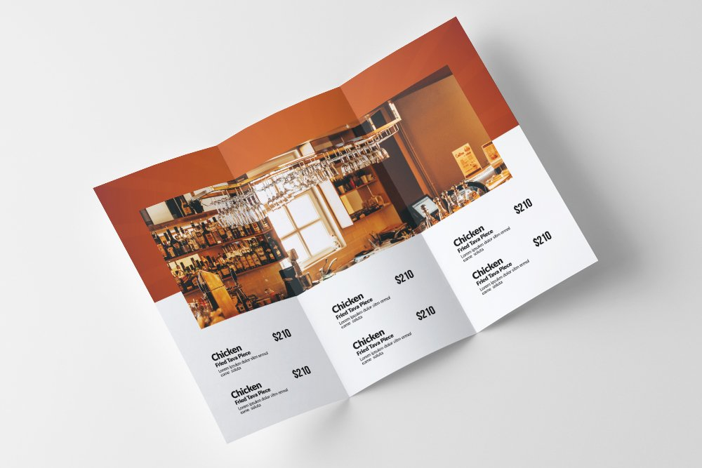 Fast Food Restaurant Trifold Brochure example image 2