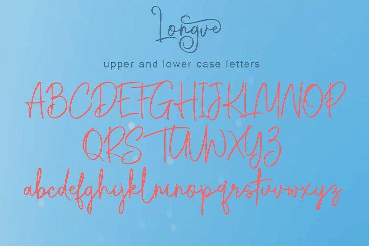 Longve    Elegant Handwriting Font example image 2