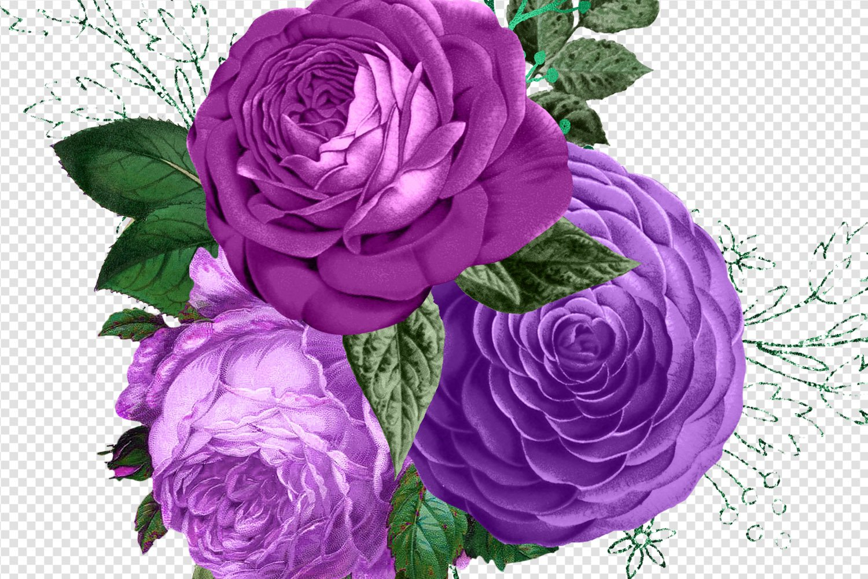 Purple Bouquets Clipart example image 3