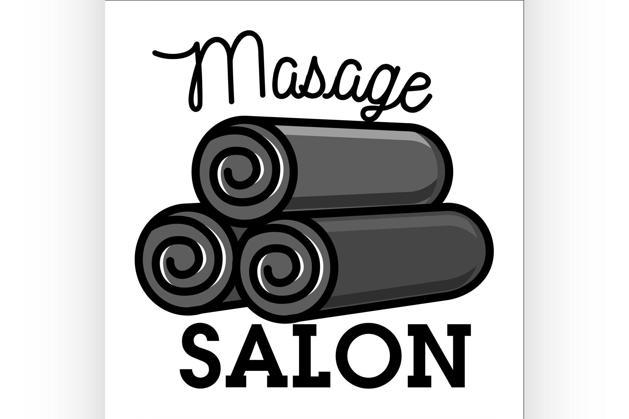 Color vintage massage salon emblem example image 1