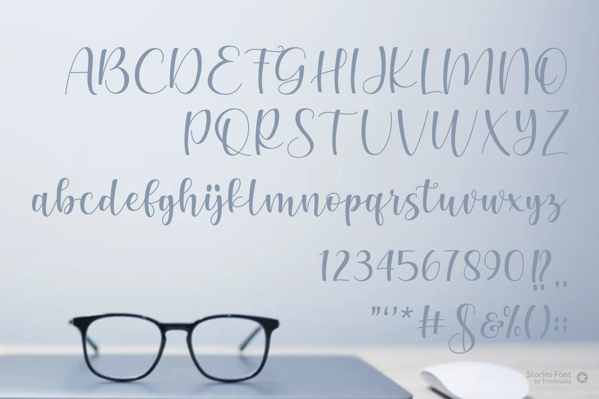 Stories - Modern Calligraphy Font example image 6