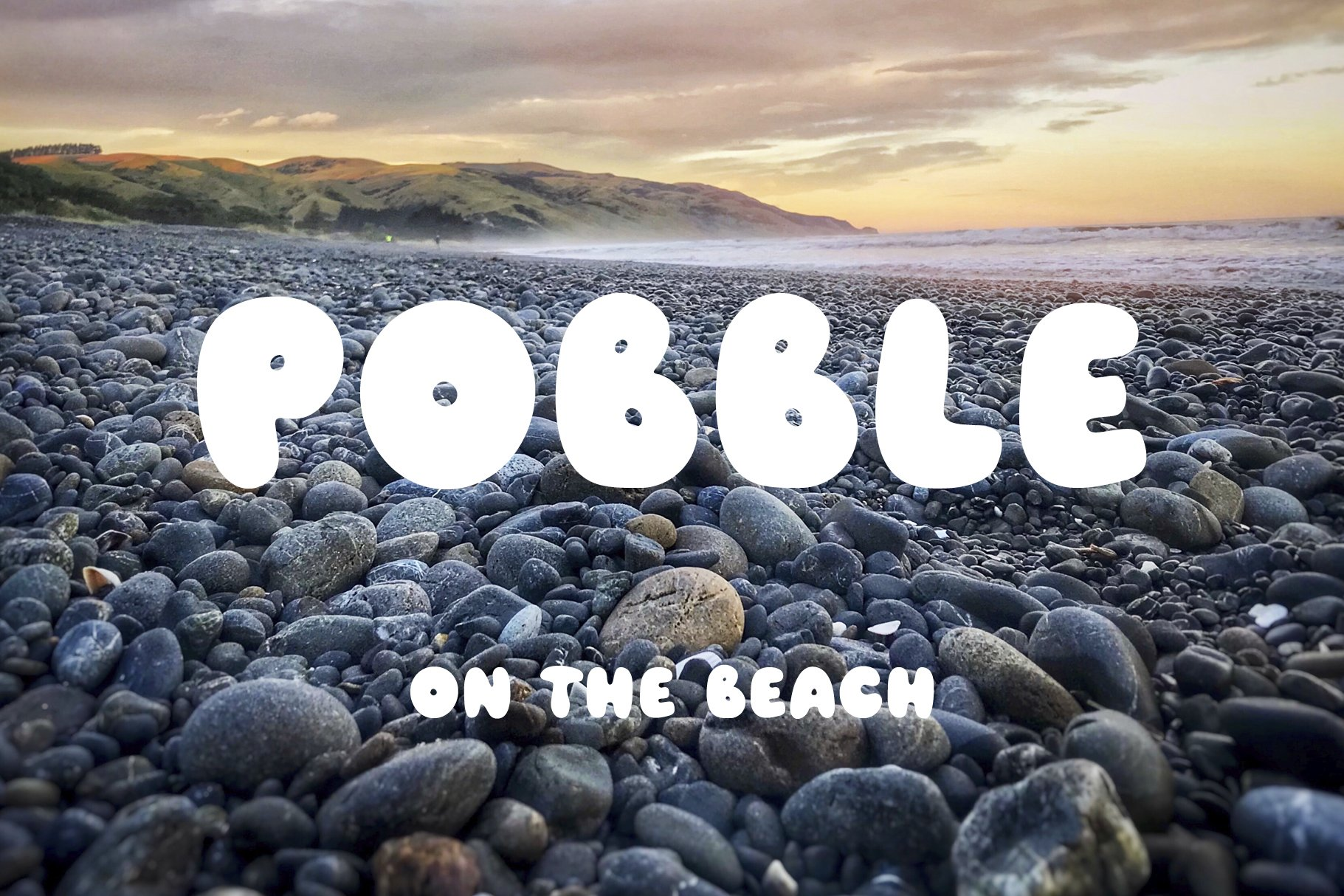 Pobble - cartoon comic style font example image 10