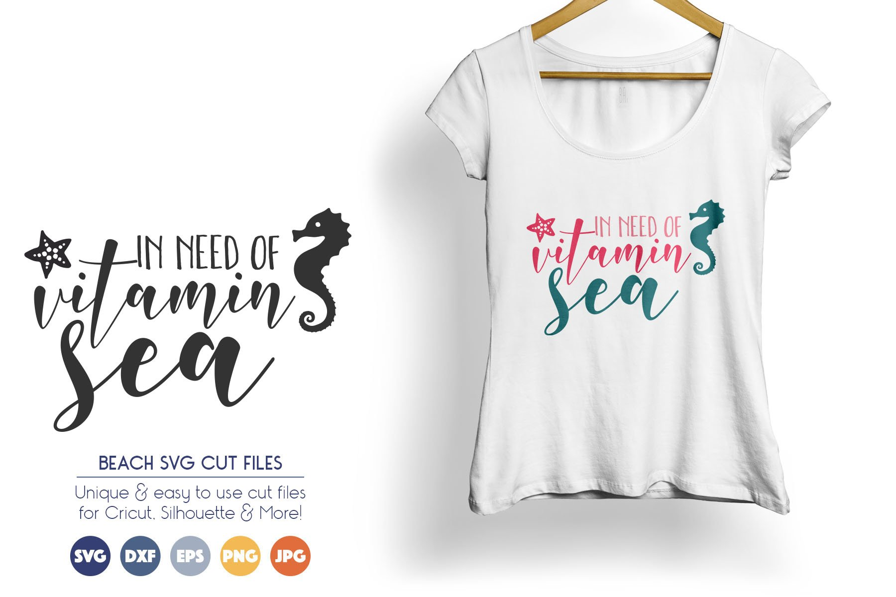 Summer SVG Cut Files - In Need of Vitamin Sea example image 1