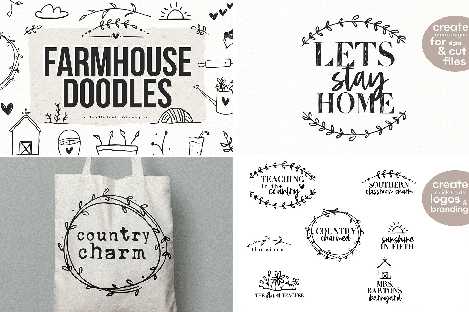 Farmhouse Font Bundle - Handwritten Fonts for Crafters! example image 9
