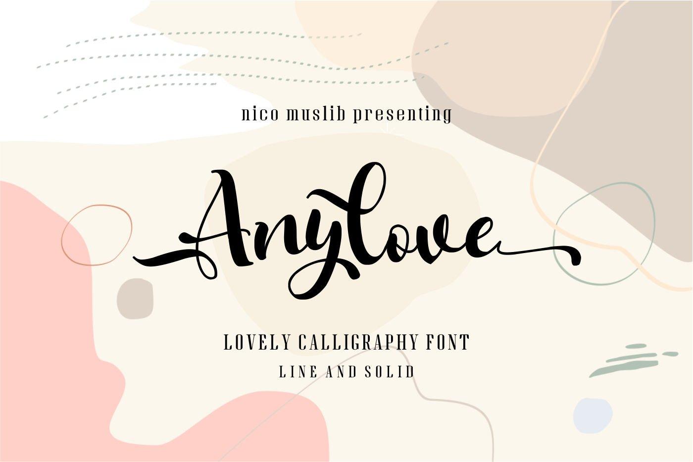 Anylove | modern scriptFont dou example image 1