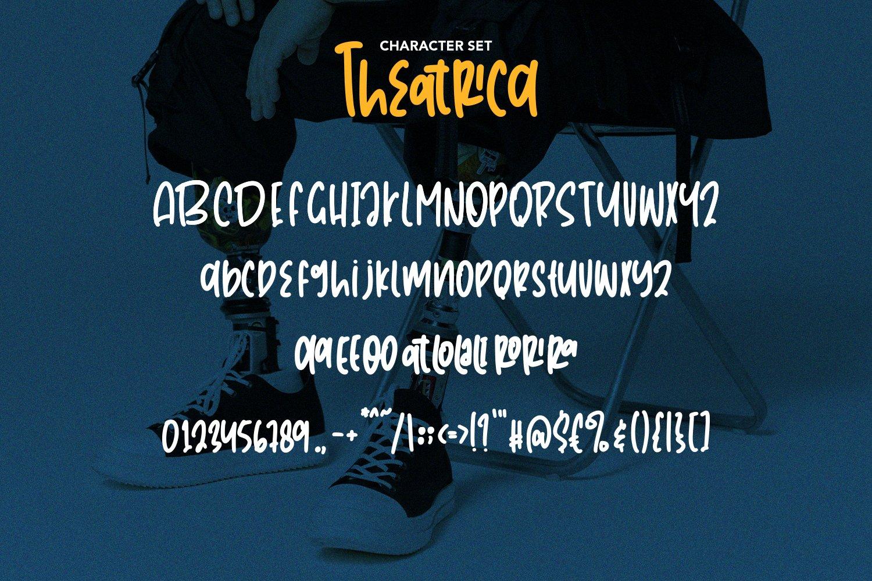 Theatrica - Playfull Monoline Font example image 6